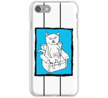 Cat Stroking a Human in Colour iPhone Case/Skin