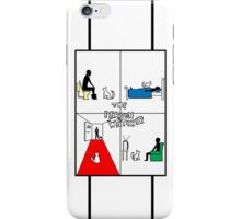 The Person Watcher in Colour iPhone Case/Skin