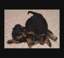 Rottweiler Puppies Playing One Piece - Long Sleeve