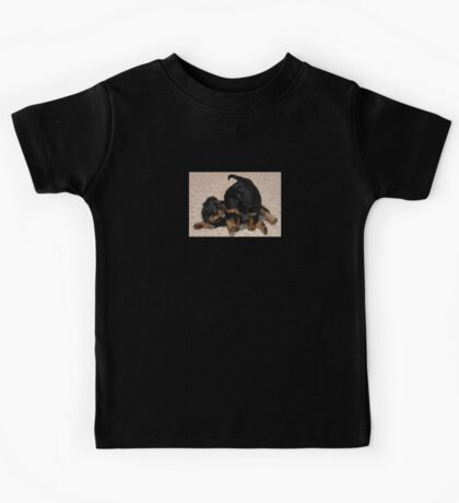 Rottweiler Puppies Playing Kids Tee