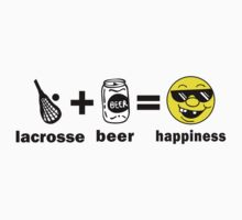 Lacrosse + Beer = Happiness by SportsT-Shirts