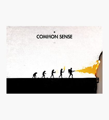 99 Steps of Progress - Common sense Photographic Print