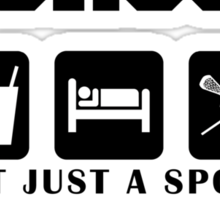 "Lacrosse ""Not Just A Sport - It's A Way Of Life"" Sticker"