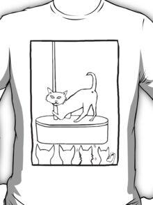 Cat Stripper Fun (transparent, just the outline) T-Shirt