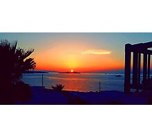 Magical Sunsets in Mykonos Photographic Print