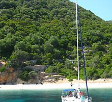Sailing off Ithaka coast by Maria1606