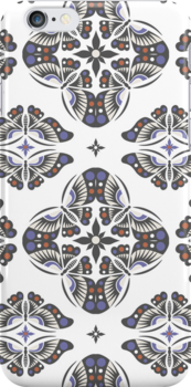 Butterfly Ornamental 3G  4G  4s case by Andi Bird