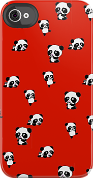 cute panda iPhone case by Zozzy-zebra