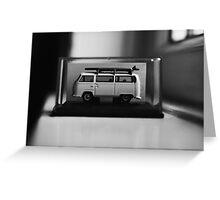 Minature VW Camper. Greeting Card