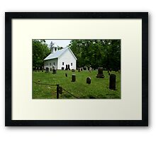 Cemetery at Cades Cove Primitive Baptist Church  Framed Print