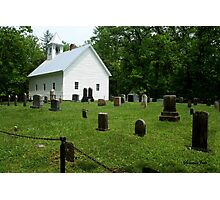 Cemetery at Cades Cove Primitive Baptist Church  Photographic Print