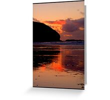 Sunset at Portreath Greeting Card