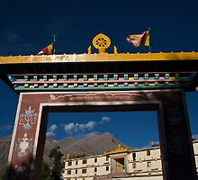 Kungri Monastery Gate by espanek