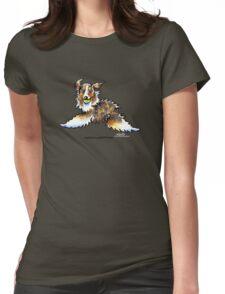 Red Merle Australian Shepherd Let's Play Womens Fitted T-Shirt