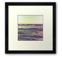 waves ver.vintage Framed Print