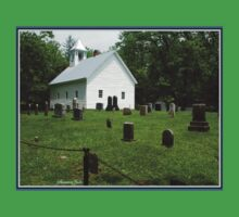 Cemetery at Cades Cove Primitive Baptist Church  One Piece - Short Sleeve
