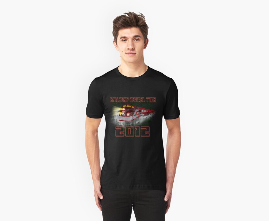 Railroad Revival Tour T-Shirt by tapiona