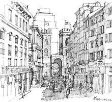 Genova, Porta Soprana by Luca Massone  disegni