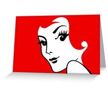 Miss Redhead [iPhone / iPad / iPod case / Tshirt / Print] Greeting Card