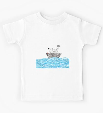 Bird and a Bug on a Boat Kids Tee