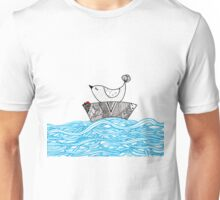Bird and a Bug on a Boat Unisex T-Shirt