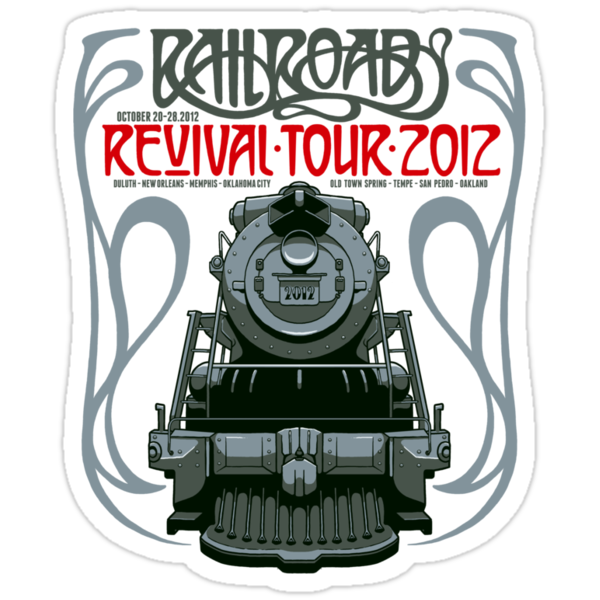 Railroad Revival Tour T-Shirt Design Contest by Kuba Gornowicz