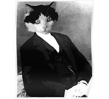 Portrait of a Gentlecat Poster