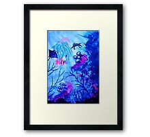Life under water, watercolor Framed Print