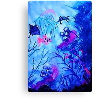 Life under water, watercolor Canvas Print