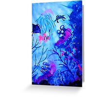 Life under water, watercolor Greeting Card