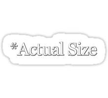 *Actual Size Sticker