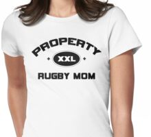 """Rugby """"Property Rugby Mom"""" Womens Fitted T-Shirt"""