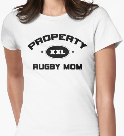 "Rugby ""Property Rugby Mom"" Womens Fitted T-Shirt"