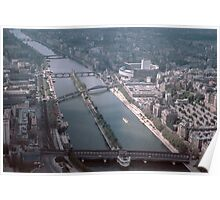 Seine and part Ile de la cite 196104160128  Poster