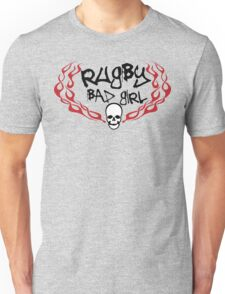Rugby Bad Girl Unisex T-Shirt