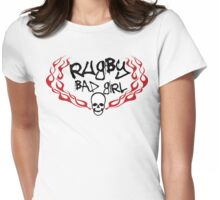 Rugby Bad Girl Womens Fitted T-Shirt