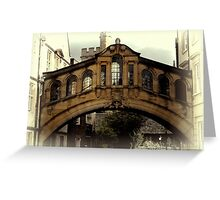 Oxford Sighs Greeting Card