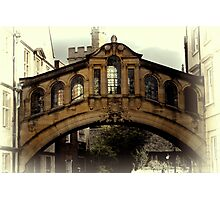 Oxford Sighs Photographic Print