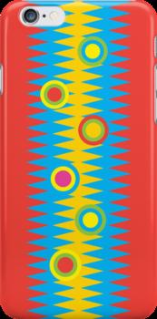 Rainbow Aztec 3G  4G  4s iPhone case  Rainbow Aztec 3G  4G  4s iPhone case   by Andi Bird