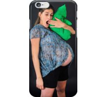 9 month pregnant woman  iPhone Case/Skin