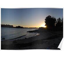 Swan River Sunset - Perth Poster