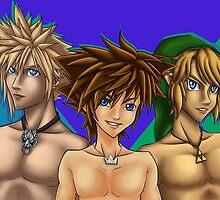 Blue-eyed Gamerboyz by forsakenangel88