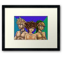 Blue-eyed Gamerboyz Framed Print