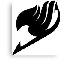 Fairy Tail Logo black Canvas Print