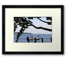 Just Fishing Framed Print