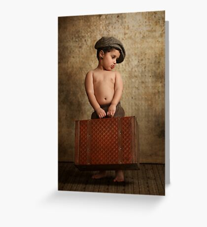 toddler ready to leave home Greeting Card