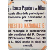 La Banca popolare di Milano prestito nazionale 5 iPad Case/Skin