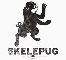 SkelePug Team Logo - black Kids Tee