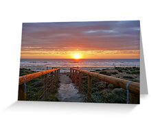 Aldinga Silver Sands Beach (Sunset) Greeting Card