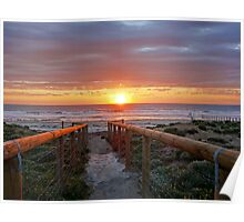 Aldinga Silver Sands Beach (Sunset) Poster